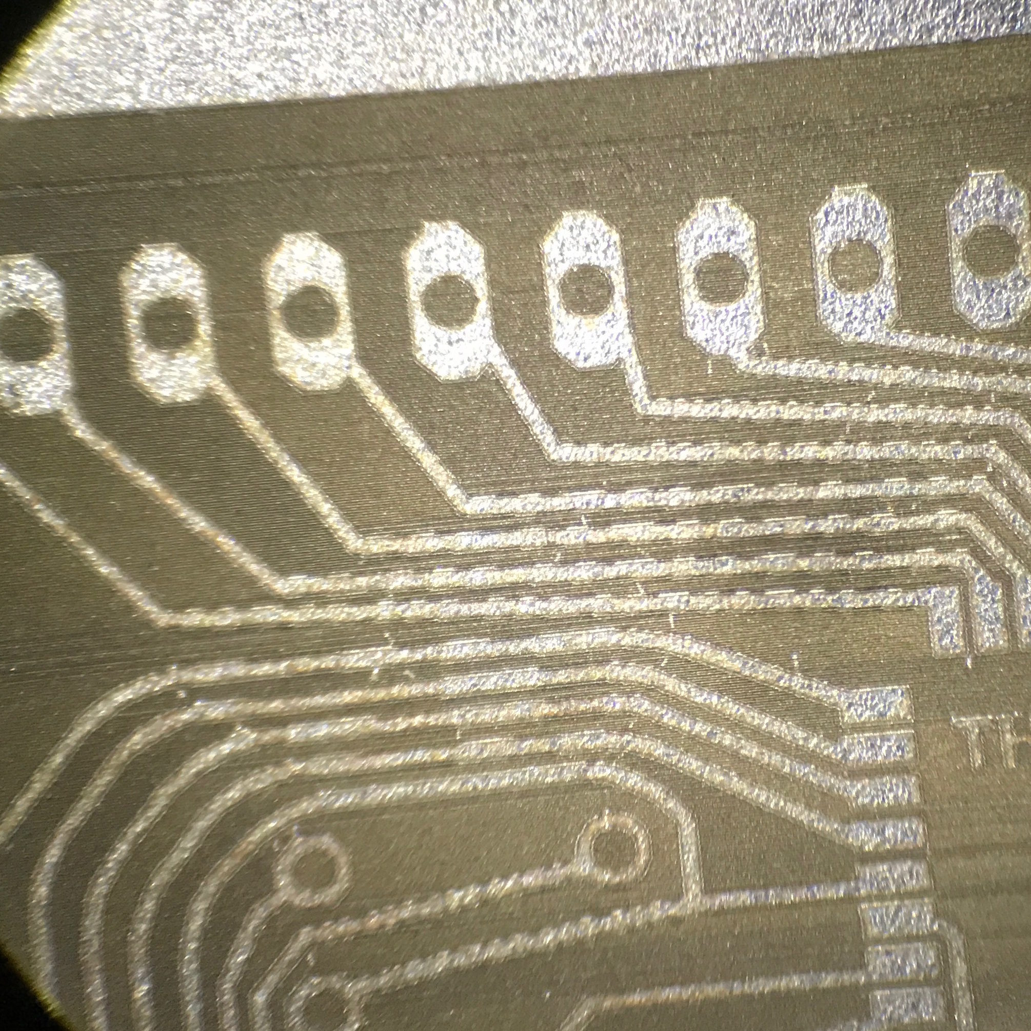 generation of electronic circuits via laser